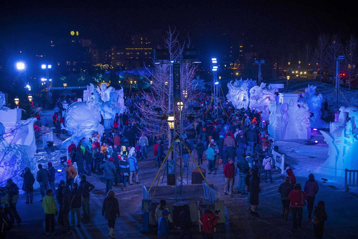 Professional snow sculptors from around the world compete for the win by creating larger-than-life masterpieces in the snow.