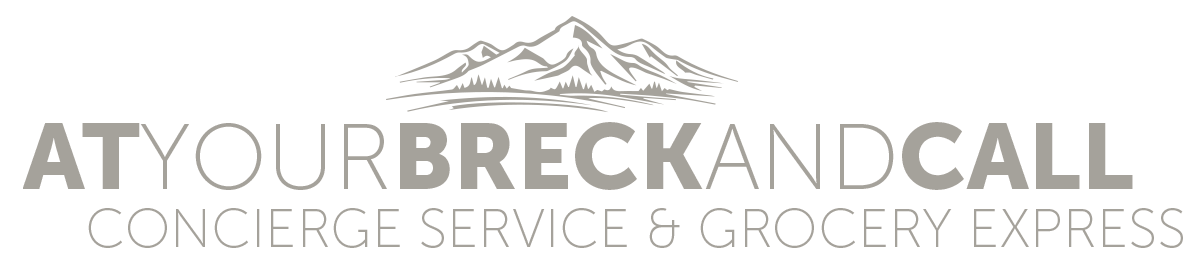 At Your Breck and Call's logo. Concierge services in Breckdenridge, CO.