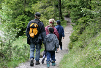 Hikers enjoy one of the many hiking trails easily access from your Breckenridge vacation lodging.