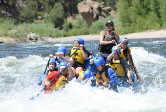 A number of white water rafting outfitters give you access to rushing waters in during the late spring and early summer.